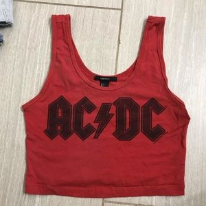 AC DC CROP TOP FOREVER 21